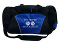 Paw Prints Vet Tech Personalized Embroidered ROYAL BLUE DUFFEL Font Style MARKER CAP