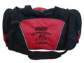 Wrestling Wrestlers Coach Mom Team Personalized Embroidered RED DUFFEL Font Style VARSITY