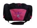 Soccer Ball Coach Mom Team Personalized Embroidered TROPICAL HOT PINK DUFFEL Font Style FRENCH SCRIPT
