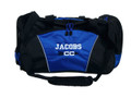 Cross Country Arrow Track & Field Coach Mom Team Personalized Embroidered ROYAL BLUE DUFFEL Font Style VARSITY