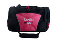 Cross Country Arrow Track & Field Coach Mom Team Personalized Embroidered HOT TROPICAL PINK DUFFEL Font Style GIRLZ