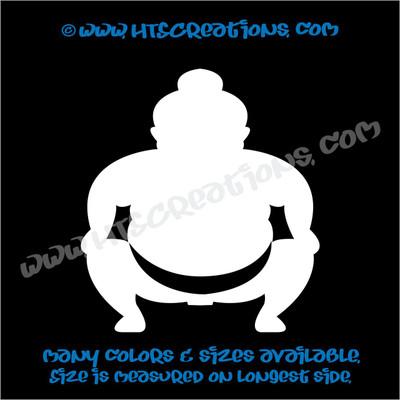 Sumo Wrestler Japanese Vinyl Decal
