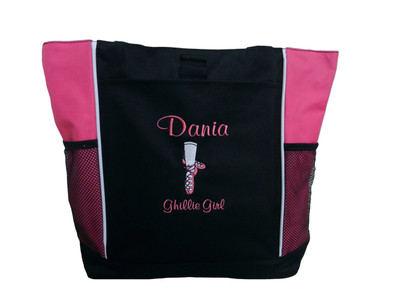 Ghillie Shoes Celtic Irish Dance Ireland Reel Princess Girl HOT TROPICAL PINK Zippered Tote Bag Font Style CASUAL SCRIPT