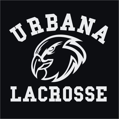 Urbana Hawks Eagle Head Lacrosse LAX Vinyl Decal Car Truck Mirror Wall