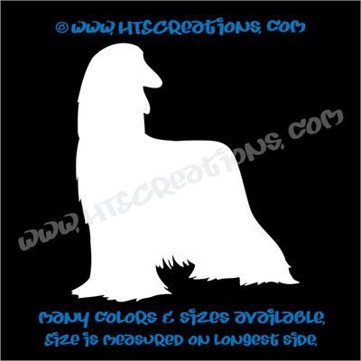 Dog Breed Afghan Hound Vinyl Decal Sticker Animal Lover Rescue Canine