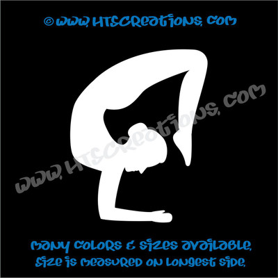 Yoga Pose Stretch OM OHM AUM Namaste Spiritual Vinyl Decal WHITE