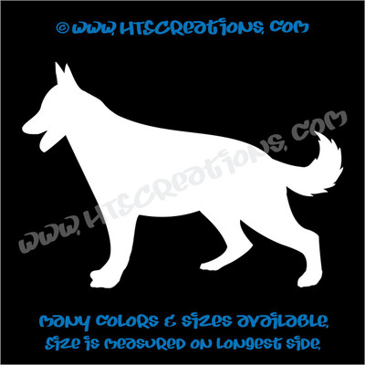Dog Breed GERMAN SHEPHERD Vinyl Decal Sticker Animal Lover Rescue Canine