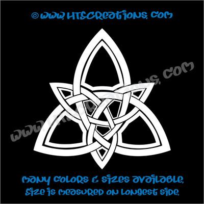 Celtic Trinity Knot Irish Dance Ireland Religious Church Grace Vinyl Decal WHITE