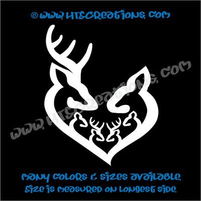 Deer Doe Family Hunting Buck Elk Mom Dad 4 Kids Boys Girls Love Vinyl Car Truck Boat Decal Sticker WHITE