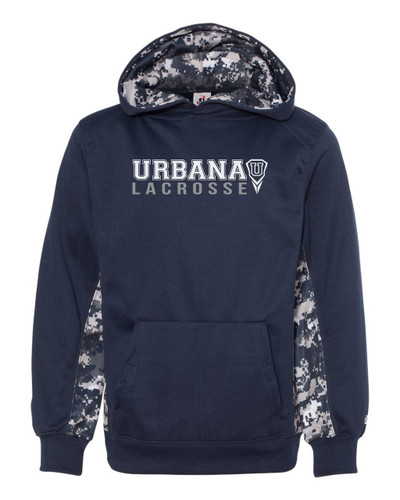 Urbana Hawks Hooded Performance Sweatshirt Badger Digiprint Polyester ADULT & YOUTH Sizes Available