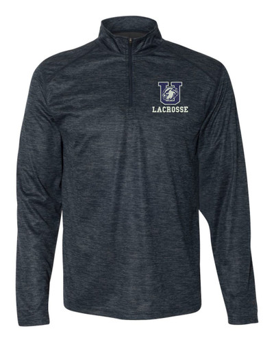 Urbana Hawks LACROSSE Performance Quarter Zip Sweatshirt Badger Tonal Blend Polyester Many Colors Available NAVY