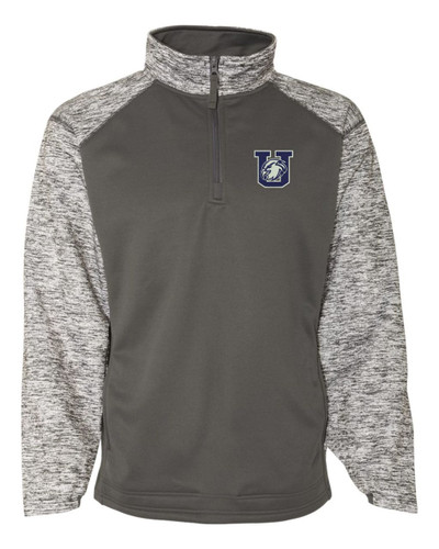Urbana Hawks Performance Quarter Zip Sweatshirt Badger Sport Blend Polyester GRAPHITE GREY Available