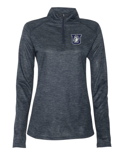 Urbana Hawks Performance Quarter Zip LADIES Sweatshirt Tonal Blend Badger Polyester Many Colors Available NAVY