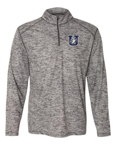 Urbana Hawks Performance Quarter Zip Sweatshirt Badger Tonal Blend Polyester Many Colors Available GRAPHITE