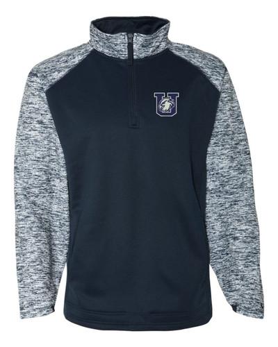 Urbana Hawks Performance Quarter Zip Sweatshirt Badger Sport Blend Polyester Navy