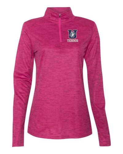 UHS Urbana Hawks Quarter Zip TENNIS Performance LADIES Sweatshirt Tonal Blend Badger Polyester Many Colors Available HOT PINK