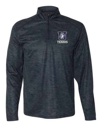 Urbana Hawks Quarter Zip Performance UHS TENNIS Sweatshirt Tonal Blend Badger Polyester Many Colors Available NAVY