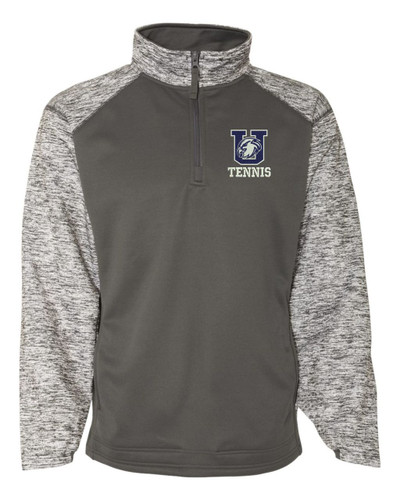 Urbana Hawks Quarter Zip Performance Badger Sweatshirt TENNIS Sport Blend Polyester Navy or Grey Available  GREY
