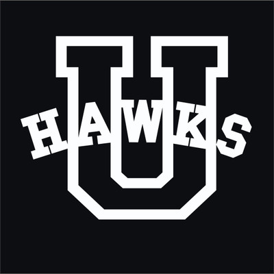 Urbana Hawks Varsity Vinyl Decal Car Truck Mirror Wall Laptop Tablet Water Bottle
