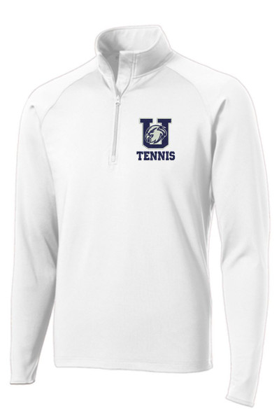 Urbana Hawks Half Zip Performance Stretch UHS TENNIS Sport Wick Polyester Spandex Many Colors Available WHITE