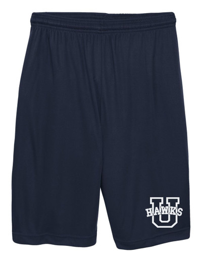 Urbana Hawks Shorts Performance with Pockets ADULT & YOUTH Colors NAVY