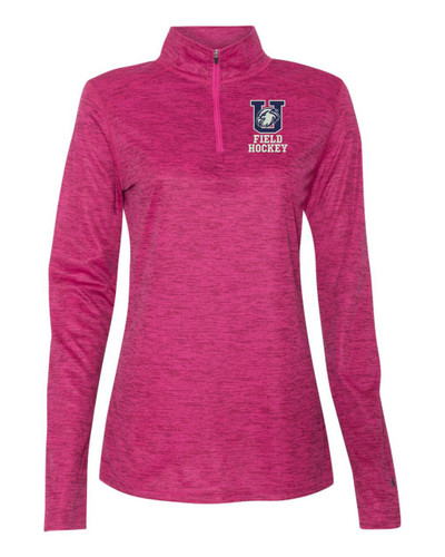 Urbana FIELD HOCKEY Quarter Zip Performance LADIES Tonal Blend Badger Polyester Many Colors Available HOT PINK