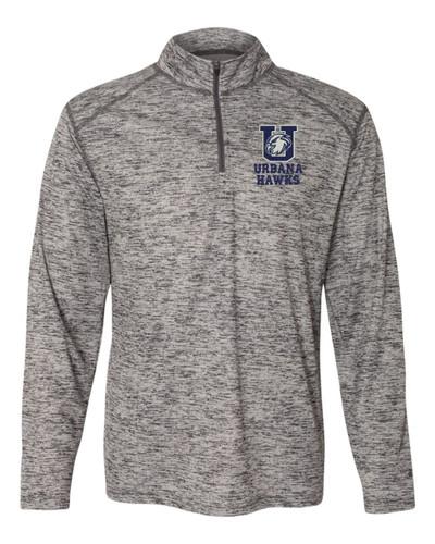 Urbana Hawks Quarter Zip Tonal Performance Sweatshirt Blend Badger Polyester Many Colors Available GRAPHITE GREY