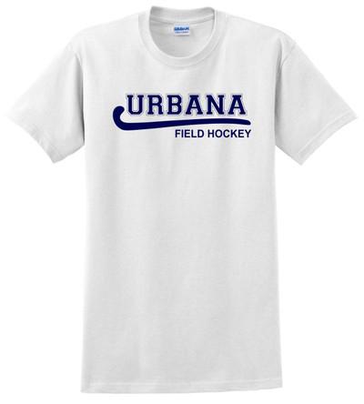 Urbana FIELD HOCKEY T-shirt Cotton LADIES Many Colors Available WHITE