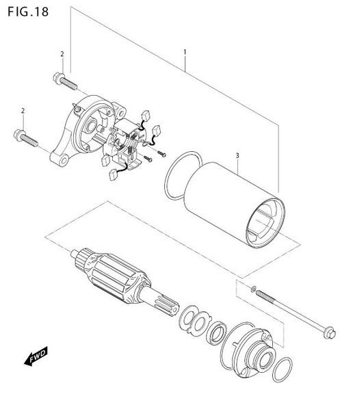 Starter Starting Motor GV250 GT250 GT250R GV125 GT125