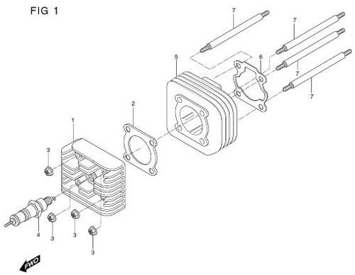 Cylinder Base Gasket TE50 Prima Rally Sense SD50 SF50