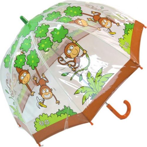 Bugzz Kids Monkey Clear Dome Umbrella