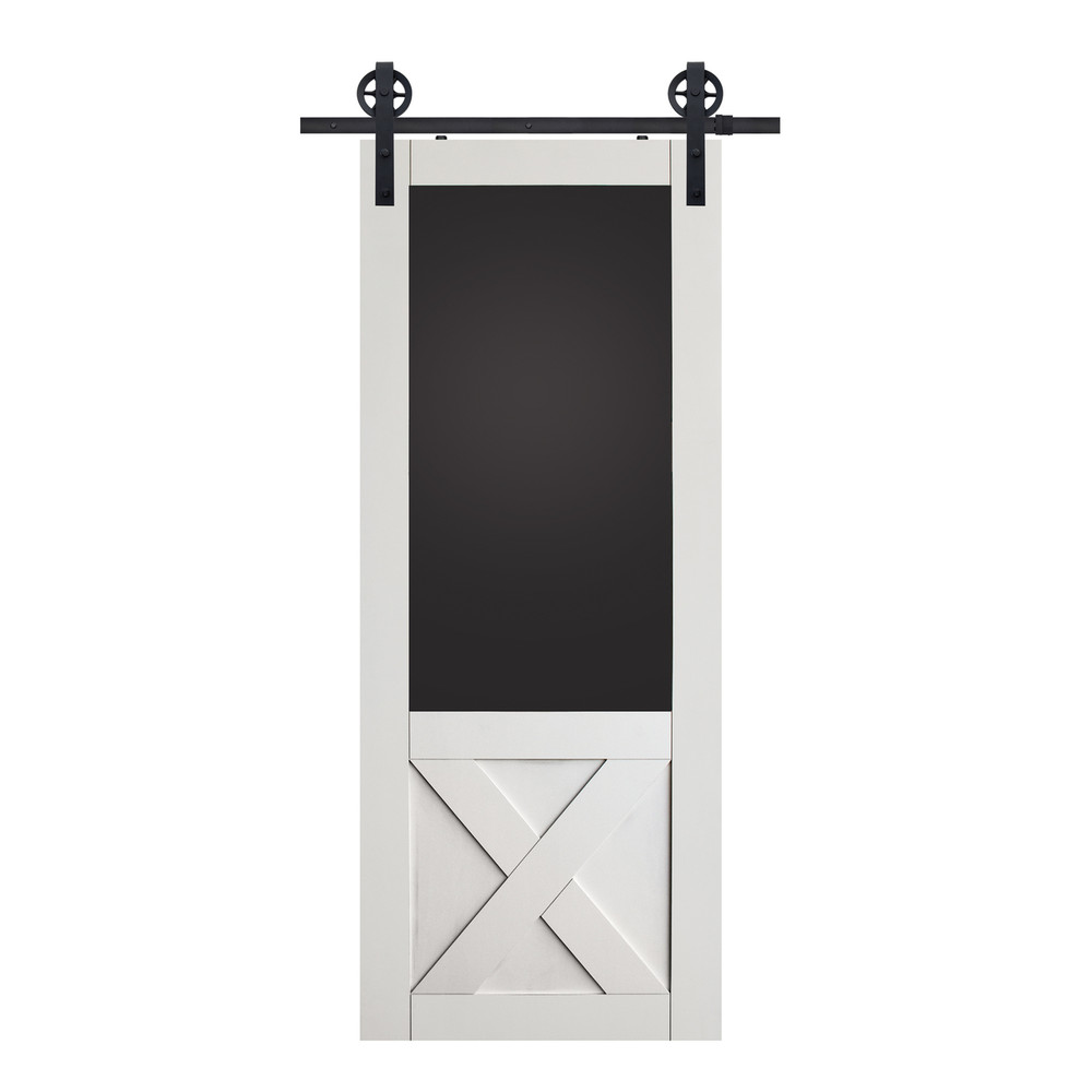 X Blackboard Barn Door