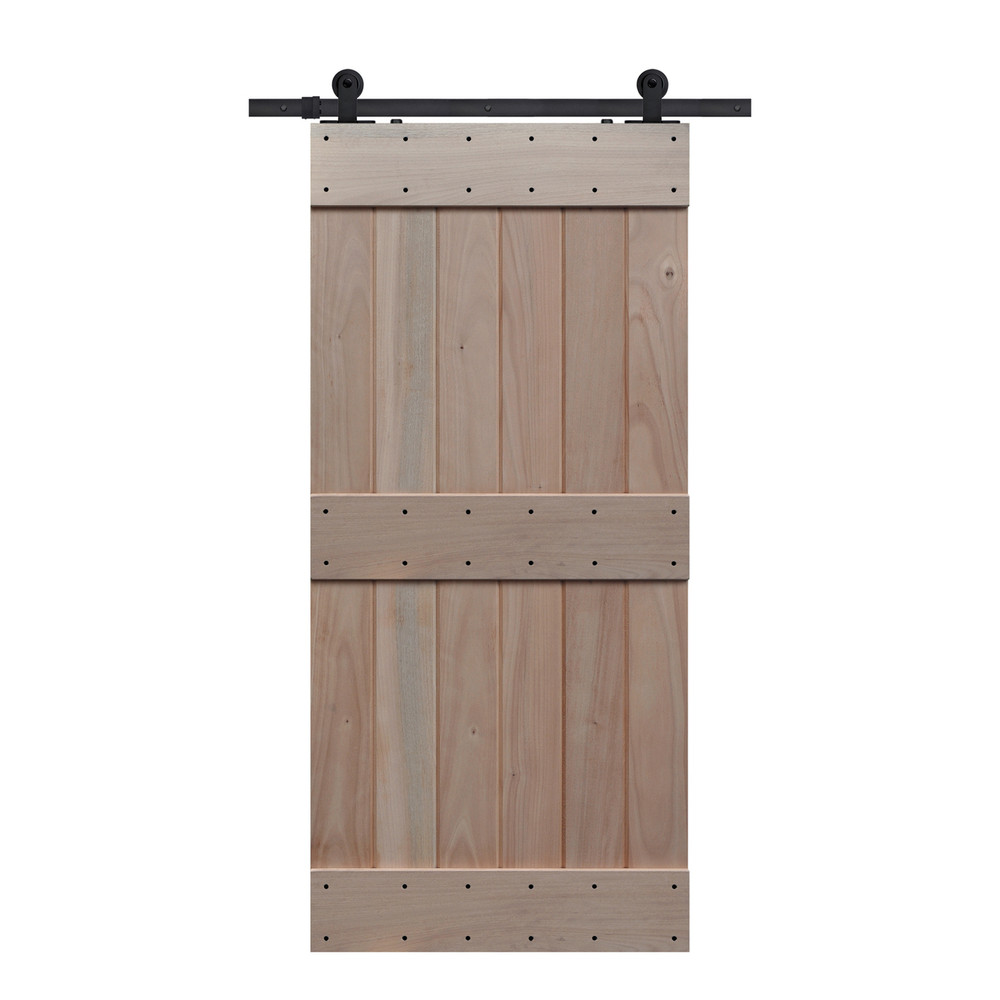 Mid Rail Plank Barn Door
