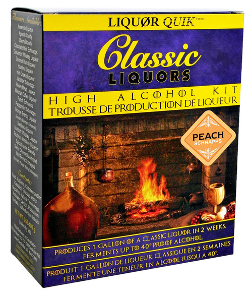 Classic Liquors 4L High Alcohol Kit - Peach Schnapps