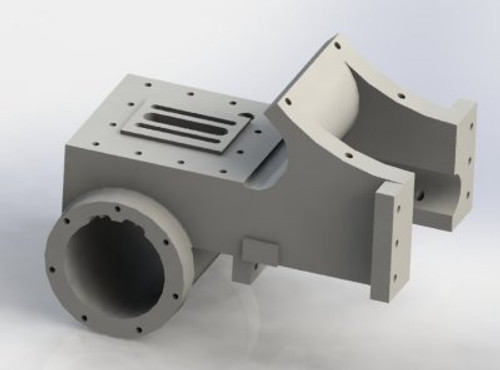 A12 Cylinder machined and finished casting shown