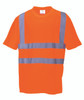 Portwest Hi-Vis T-Shirt - SET OF TWO: Front View