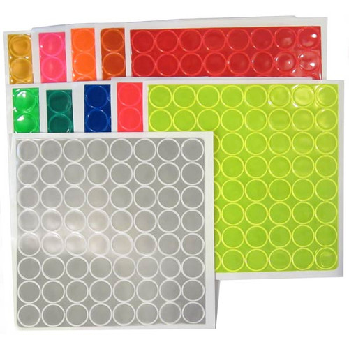 Reflexite 1 Inch Reflective Dots Sheet of 64 White