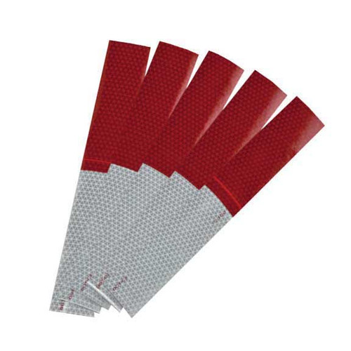 """Reflexite V92 DOT-C2 Daybright 6""""Red/6""""White Conspicuity Tape"""