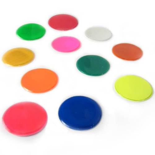 Reflective 1 Inch Adhesive Vinyl Hot Dots - Sheet of 32
