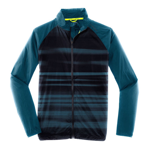 Brooks Running Men's Lite Shelter Device Lightweight River Blue Jacket
