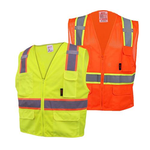 1501/1502 Class 2 Multi-Purpose Vest w/ 6 pockets
