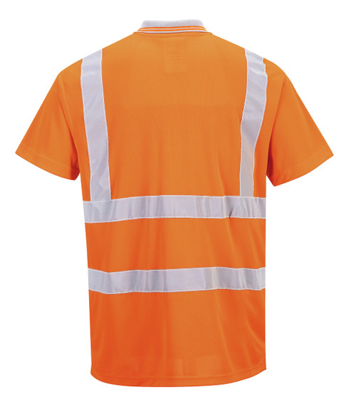 Port West Hi-Vis Short Sleeved Polo - SET OF TWO: Back View