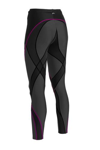 CW-X Womens Pro Tights - Black and Black/Raspberry