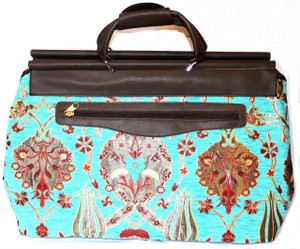 Woven Textile Luggage Bag