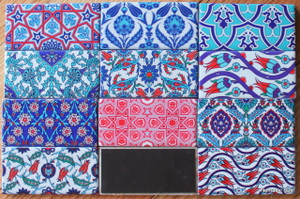 Ottoman tile magnets (5*10cm) various designs