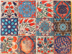5*5cm Ottoman design magnets.  Made in Turkey