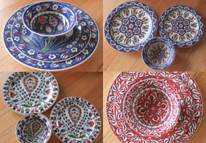 3 piece Dinner Set - hand painted - Food safe