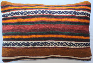 Vintage kilim cover rectangle (40*60cm) #KR78