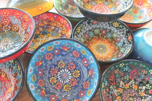 16cm Special Kabartma bowls - handmade and hand painted in Turkey