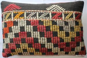 Vintage kilim cover rectangle (40*60cm) #KR89